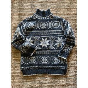 Vintage fairisle heavy wool sweater